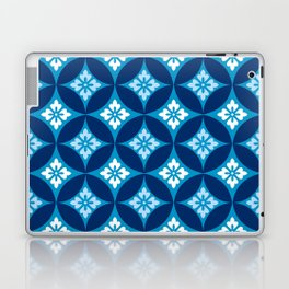 Shippo with Flower Motif, Indigo Blue and White Laptop & iPad Skin