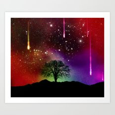 galaxy tree Art Print