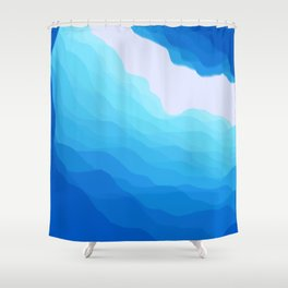 Icy Abyss Shower Curtain