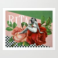 wasted rita Art Prints featuring rita by Rosa Picnic