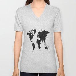 World Map Wall Art,World Map Canvas,World Map Print,World Map Poster,Printable Art,World Map Svg,Wat Unisex V-Neck
