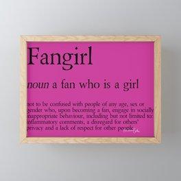 Fangirl Definition Framed Mini Art Print
