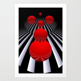 crazy lines and balls -12- Art Print