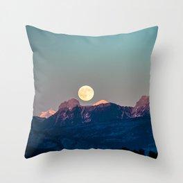 The Rising Moon Throw Pillow