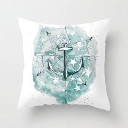 Anchor Sketch Throw Pillow