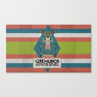 gremlins Canvas Prints featuring Gremlinos Late night restaurant by Evil Ice Cream