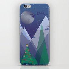 Christmas Night Alpine Flight iPhone & iPod Skin