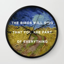 Prudence with Crows Wall Clock