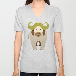 Whimsy Cape Buffalo Unisex V-Neck