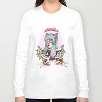 pastel goth Long Sleeve T-shirts featuring Oh my GOTH! by Raquel Amo Art