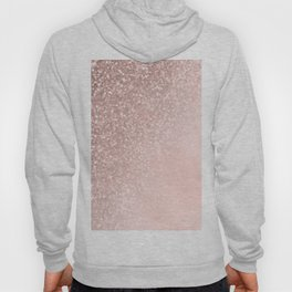 Rose Gold Sparkles on Pretty Blush Pink II Hoody