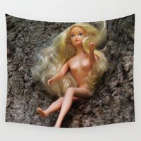 barbie Wall Tapestries featuring barbie by art_by_a_rose