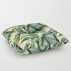 Palm Leaves Greenery Linen Floor Pillow