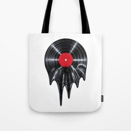 Melting vinyl / 3D render of vinyl record melting Tote Bag