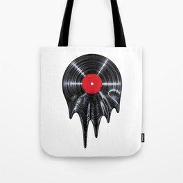 Melting vinyl / 3D render of vinyl record melting Tote Bag