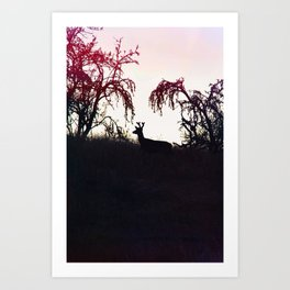 Silhouette Game Strong Art Print