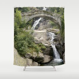 Roman Bridge - Fondo, Italy Shower Curtain