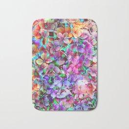 Rainbow Hydrangea Doodle Bath Mat
