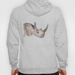Watercolor Rhino Hoody