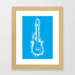 Cloud Guitar - Blue Angel Framed Art Print