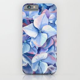 """Blue hydrangea"" iPhone Case"