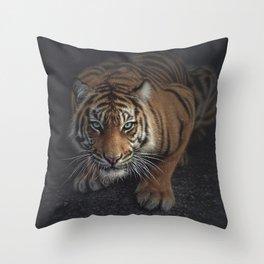 Crouching Tiger Throw Pillow