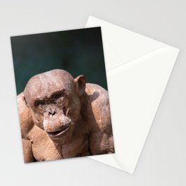 Jambo The Hairless Alpha Male Chimp green Stationery Cards