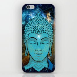 Blue Face of Buddha in the Galaxy iPhone Skin