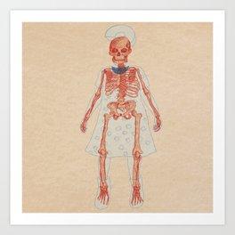Bones. Questions series Art Print