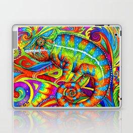 Psychedelizard Colorful Psychedelic Chameleon Rainbow Lizard Laptop & iPad Skin