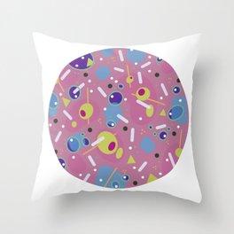 Stirred Not Shaken Pink Throw Pillow