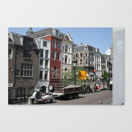 Photograph of Dutch city Utrecht a typical old city heart of the Netherlands Canvas Print