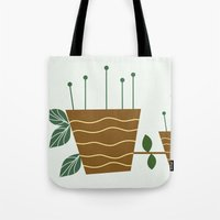 plants Tote Bags featuring plants by aticnomar