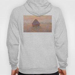 Grainstack, Sun in the Mist by Claude Monet Hoody