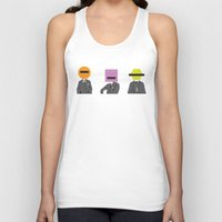 suits Tank Tops featuring Three wise Monkey Suits by Simon Greening