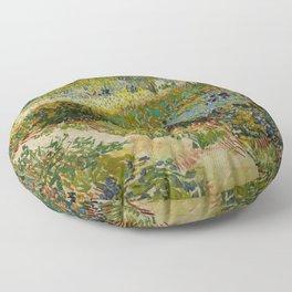 """Vincent van Gogh """"Garden at Arles"""" Floor Pillow"""