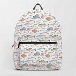 Watercolour fish Backpack
