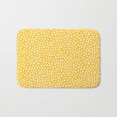 DOT PATTERN - yellow and white Bath Mat