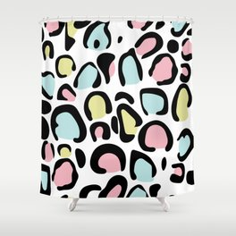 80's leopard skin pattern Shower Curtain