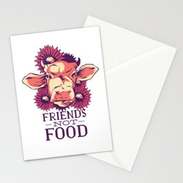 Friends Not Food Vegan Stationery Cards