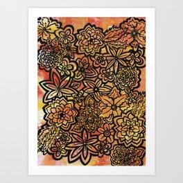 Wildfire Flowers Art Print