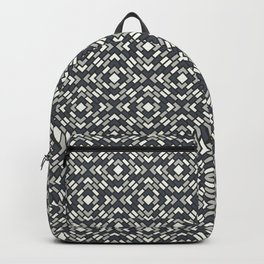 BM 2019 Trending Color Metropolitan, Hale Navy Blue & Snowfall White Diamond Block Pattern Backpack