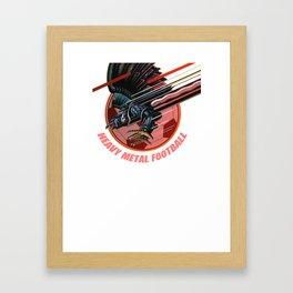 Heavy Metal Football Framed Art Print