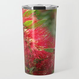 Calliandra Haematocephala Red Powderpuff  Travel Mug