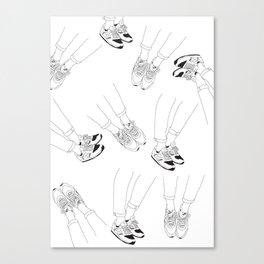 Shoe Illustration Canvas Print