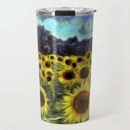 Sunflowers Van Goth Travel Mug