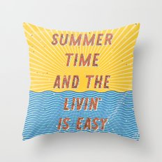 Summertime - A Hell Songbook Edition Throw Pillow