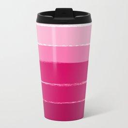 Mola - ombre painting bruskstrokes tonal gradient art pink pastel to hot pink decor Travel Mug