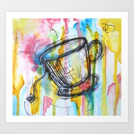 Sunshine and Tea Art Print
