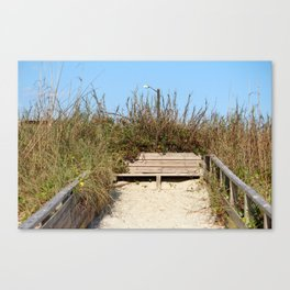 Beach Bench Canvas Print